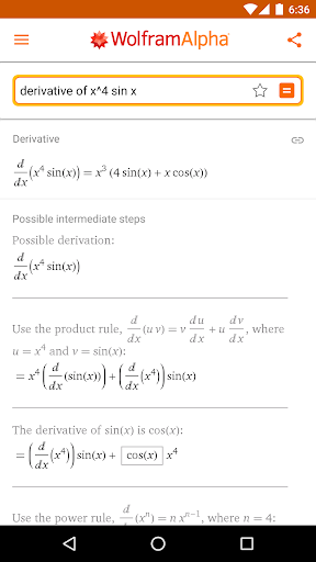 Screenshot for WolframAlpha in United States Play Store