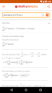 WolframAlpha Screenshot
