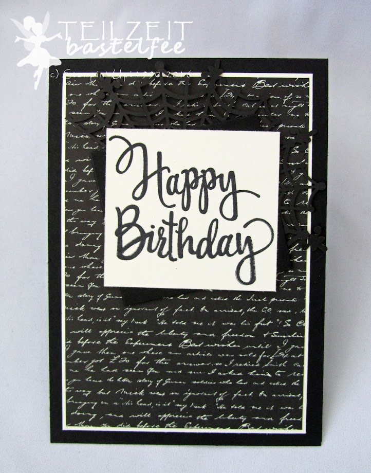 Stampin' Up! - Birthday, Stylized Birthday, Geburtstag, male card, Männerkarte, black, schwarz