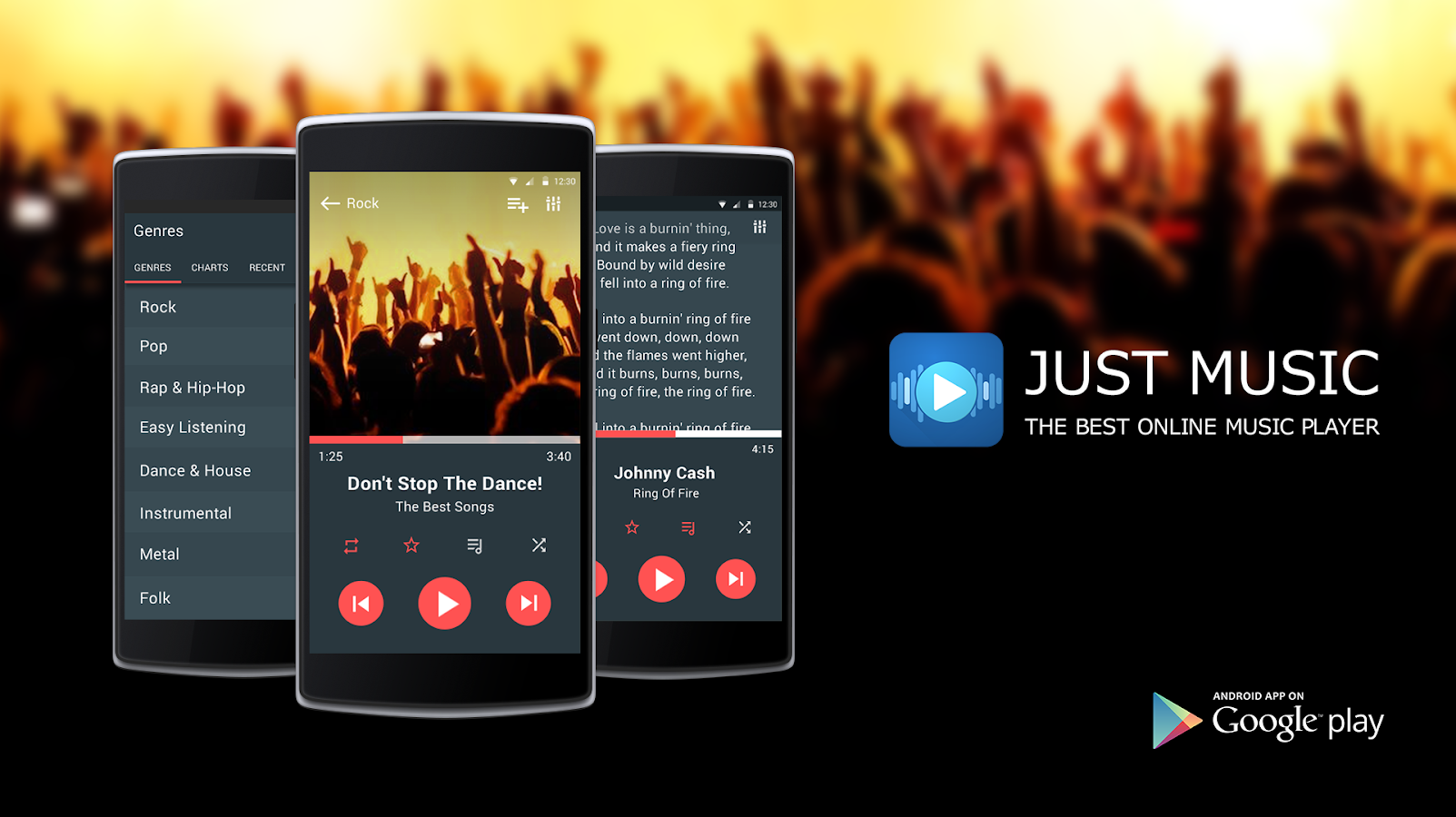 Just Music Player Pro- tangkapan layar