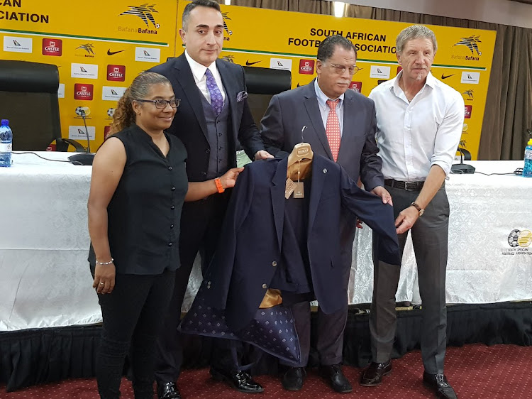 One of the suits Bafana Bafana and Banyana Banyana will dress in during official games.