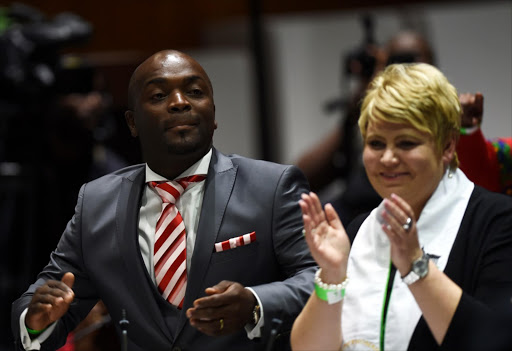 Solly Msimanga with Marietha Aucamp. File photo