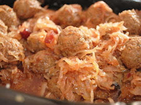 Grandma's Meatballs with Sauerkraut Recipe