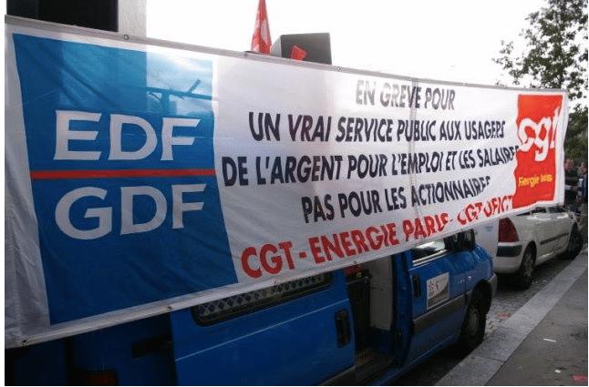 Affichage EDF GDF grève CGT