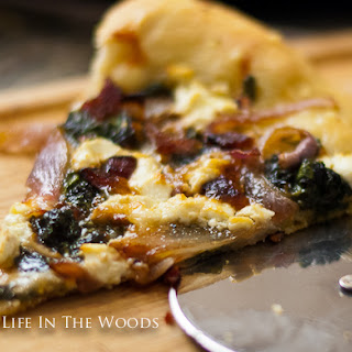Pizza Bianca with Goat Cheese and Swiss Chard Recipe