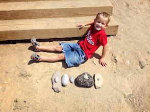 Photo: Oliver's rock pile