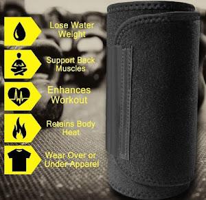 Centura abdominala pentru slabit Fitness Sweat