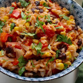 One-Pot Mexican Rice with Black Beans and Corn.