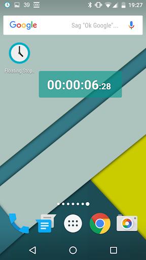 Floating Stopwatch, free multitasking timer 3.6.1 screenshots 1