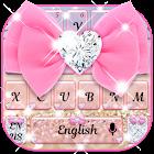 Glitter pink bow Keyboard icon