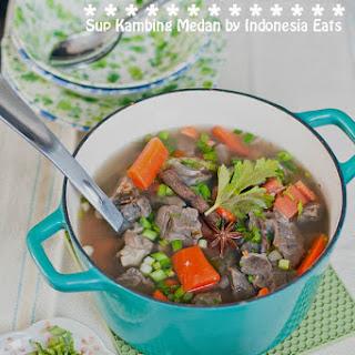 Sup Kambing Medan Recipe (Goat Soup).