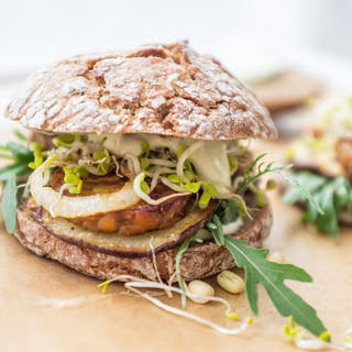 Tempeh Eggplant Sandwich With Basil Mayo [Vegan]