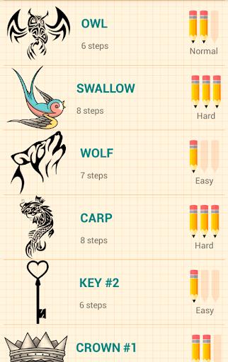How to Draw Tattoos 4.2 screenshots 2