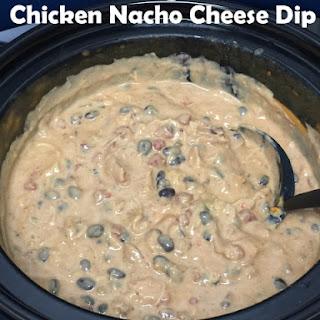 Outrageous Chicken Nacho Cheese Dip.