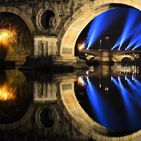 Ponte Sisto by Juan Tomas Alvarez Minobis - Buildings & Architecture Bridges & Suspended Structures ( lights, italian, rome, night, bridge, photo,  )