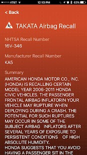 Airbag Recall- screenshot thumbnail