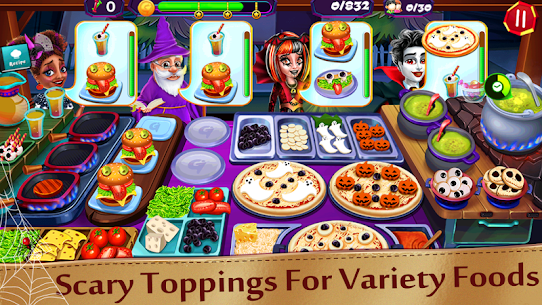 Halloween Cooking: Chef Madness Fever Games Craze 4