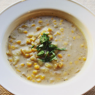 Corn Chowder with Potatoes and Basil Recipe