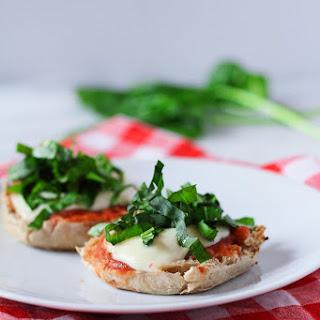 Mozzarella & Basil Breakfast Pizza.