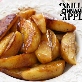 SKILLET CINNAMON APPLES.