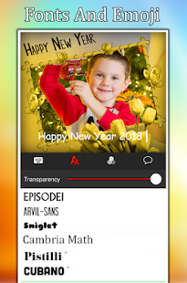 Happy New Year Photo Editor - New Year 2018 - náhled