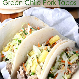 Slow Cooker Pineapple Green Chile Pork Tacos.