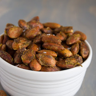 Arugula Pesto Roasted Almonds.
