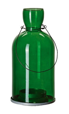 Tingle Grön - Hängande Flasklykta - 10x21cm