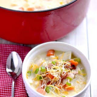 Chicken, Potato and Corn Chowder.