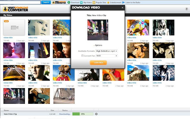 VideoDownloadConverter chrome extension