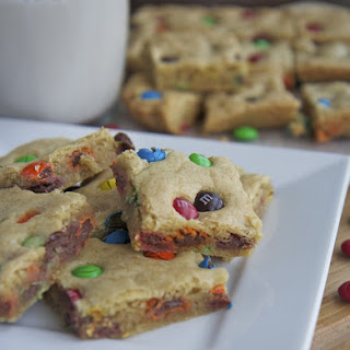 Chewy M&M Cookie Bars.