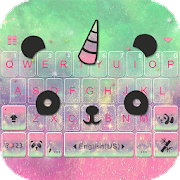Cuteness Panda Keyboard Theme - Cute Emojis,Gifs