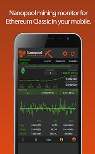 Nanopool Mining Monitor - náhled