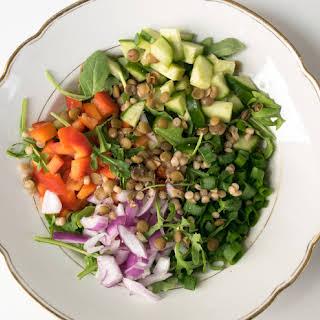 Lentil Vegetable Couscous Salad.
