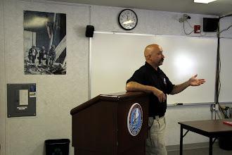 Photo: Task Force Leader Giunta addresses the group