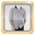 Man Casual Shirt Photo Suit icon