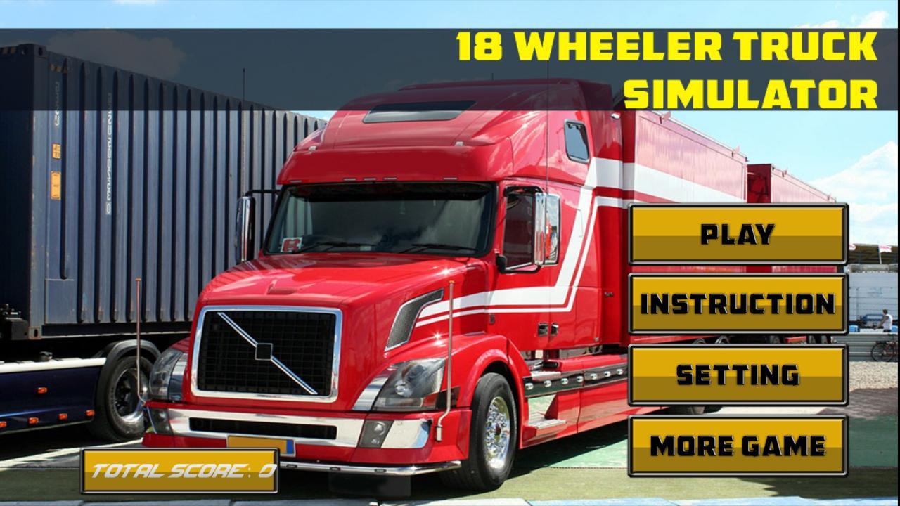 how to drive a 18 wheeler simulator