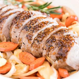 Glazed Pork Tenderloin with Carrots Sheet Pan Supper.
