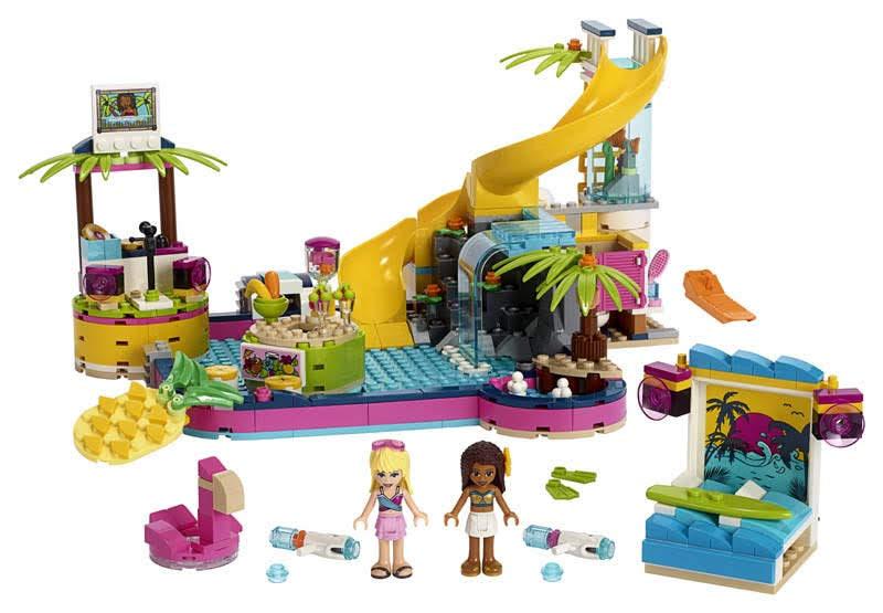 Contenido de Lego® 41374 Fiesta de la Piscina de Andrea