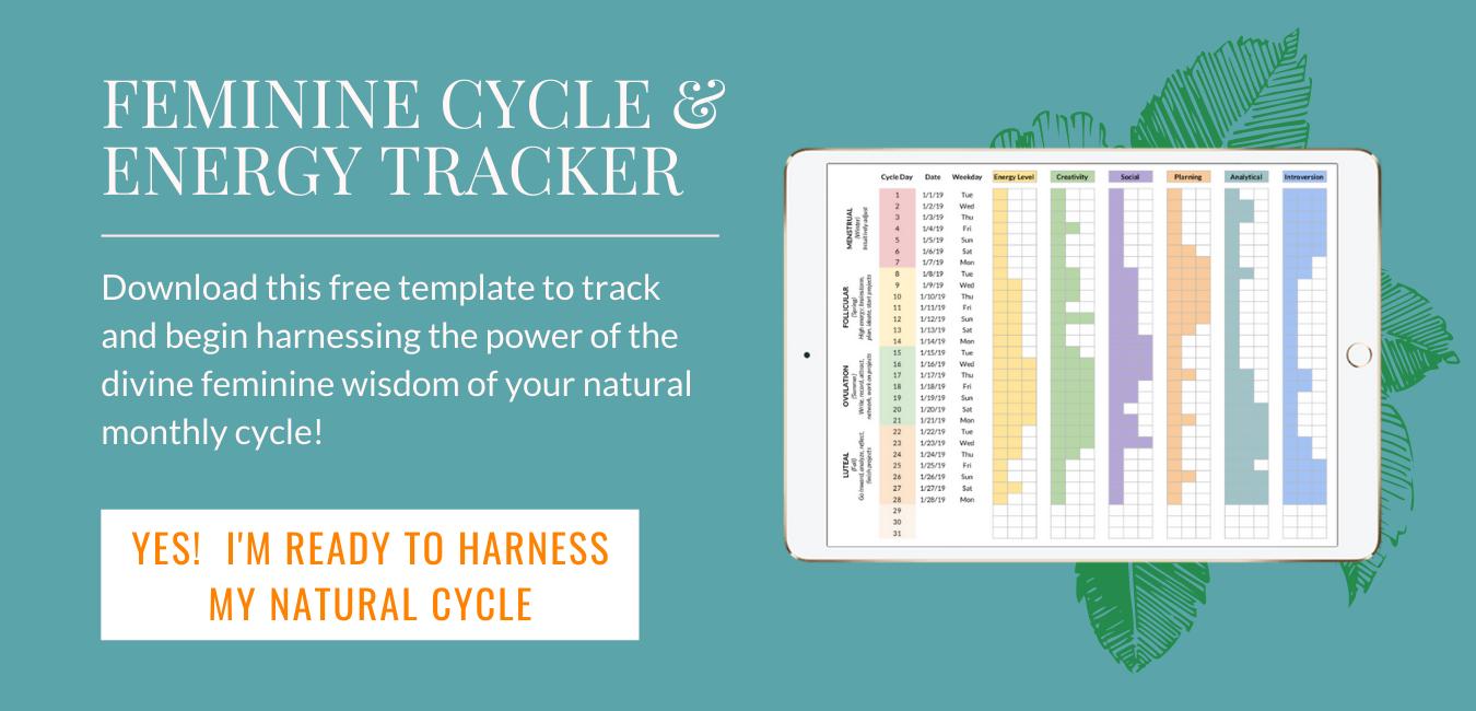 Feminine Cycle and Energy Tracker Lotus Pathway
