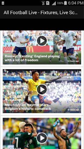 All Football Live - Fixtures, Live Scores, News 1.1 screenshots 4
