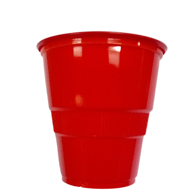 vasos plasticos disipal rojo 90oz 10und