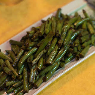 Sauteed Green Beans with Balsamic Vinegar.