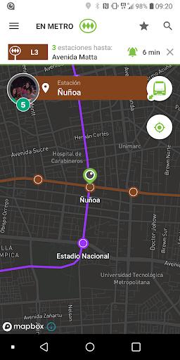 TranSapp: Metro y buses de transantiago screenshots 3