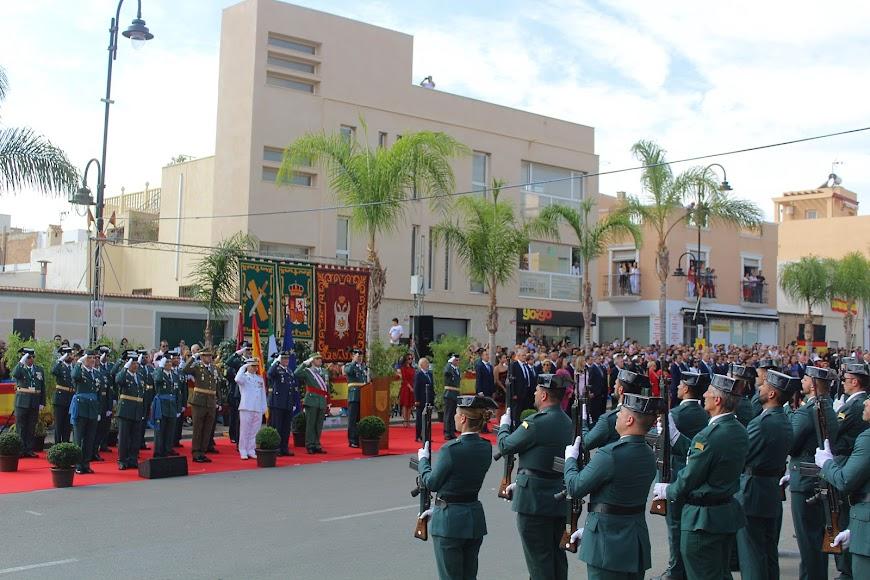 Acto del Día de la Patrona en la calle del Mar, de Vera.