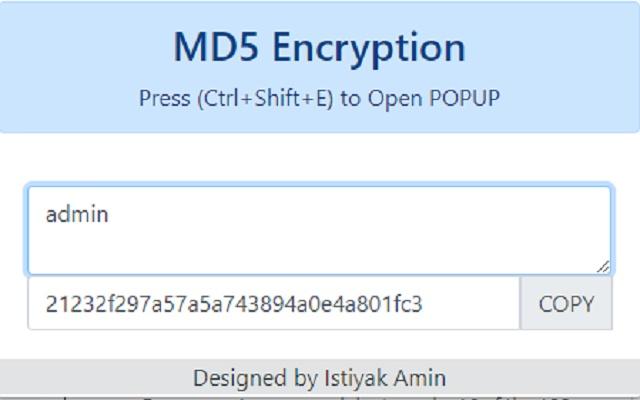 MD5 Encryption