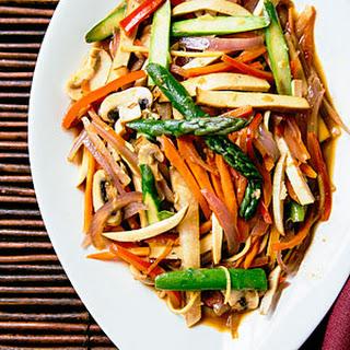 Slivered Vegetable and Tofu Stir-Fry