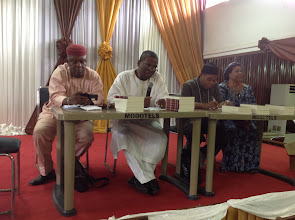 Photo: Pro-Chancellor and Chairman of Governing Council, UNN, Prof Enejere speaks at Prof Madubuike's Book Presentation