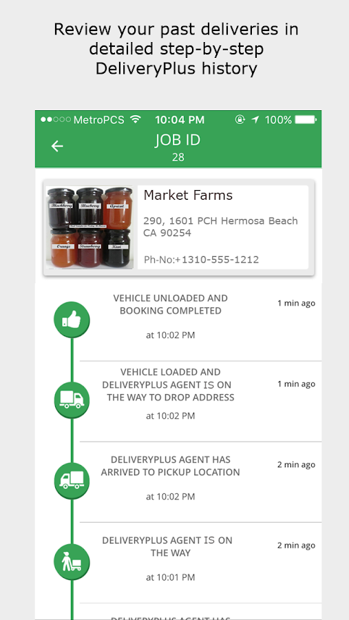 Delivery Plus Client App- screenshot