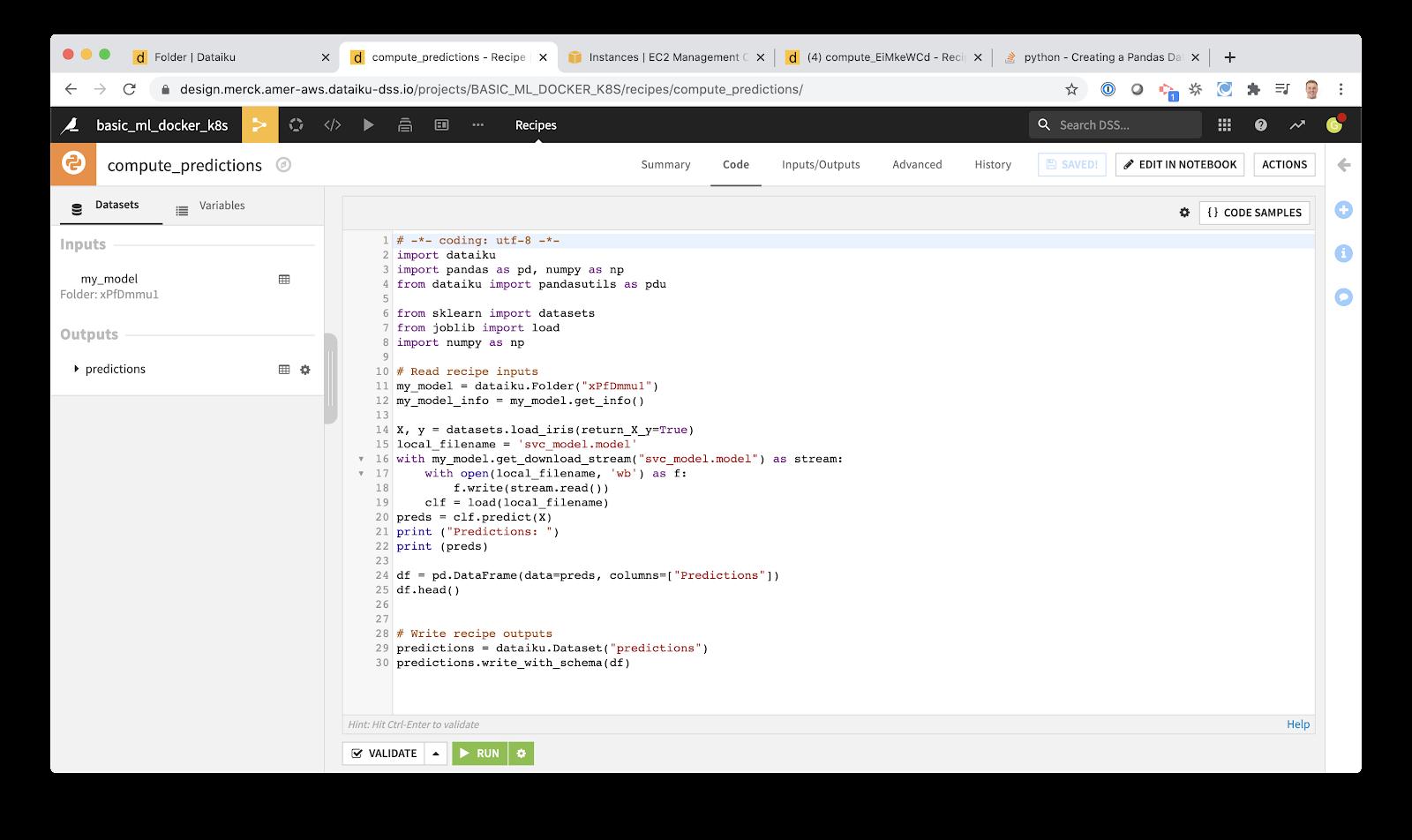 create Python script